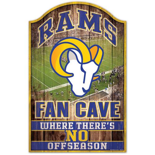 Los Angeles Rams Sign 11x17 Wood Fan Cave Design