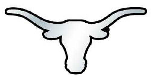 Texas Longhorns Auto Emblem Silver Chrome Longhorn