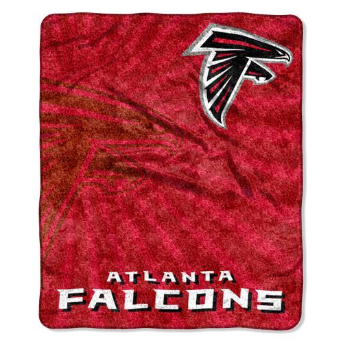 Atlanta Falcons Blanket 50x60 Sherpa Strobe Design