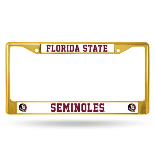 Florida State Seminoles License Plate Frame Metal Gold Alternate