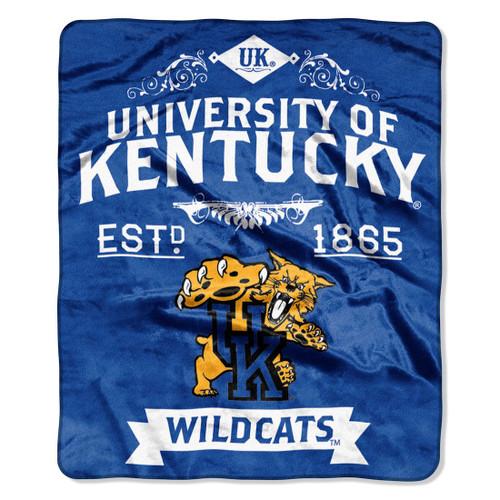 Kentucky Wildcats Blanket 50x60 Raschel Label Design