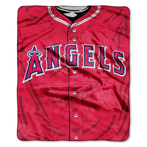 Los Angeles Angels Blanket 50x60 Raschel Jersey Design