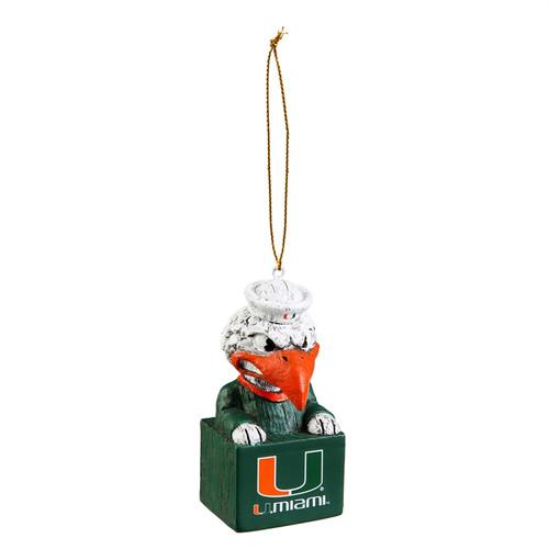 Miami Hurricanes Ornament Tiki Design Special Order