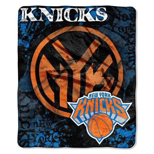 New York Knicks Blanket 50x60 Raschel Drop Down Design Special Order