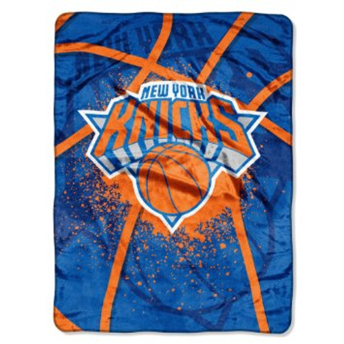 New York Knicks Blanket 60x80 Raschel Shadow Play Design Special Order