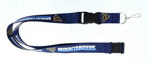West Virginia Mountaineers Lanyard Blue Special Order