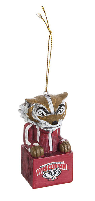Wisconsin Badgers Ornament Tiki Design Special Order