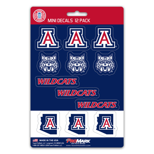 Arizona Wildcats Decal Set Mini 12 Pack Special Order