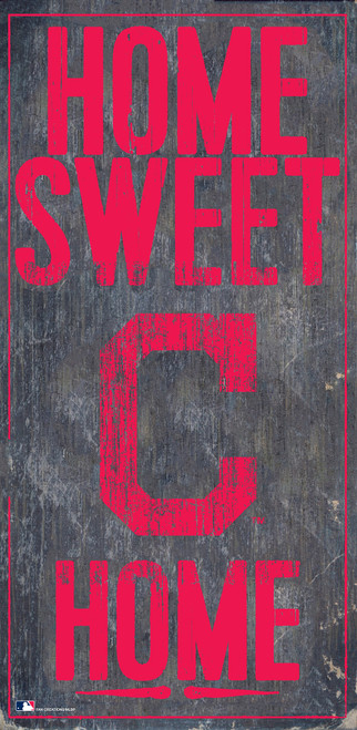 Cleveland Indians Sign Wood 6x12 Home Sweet Home Design Special Order