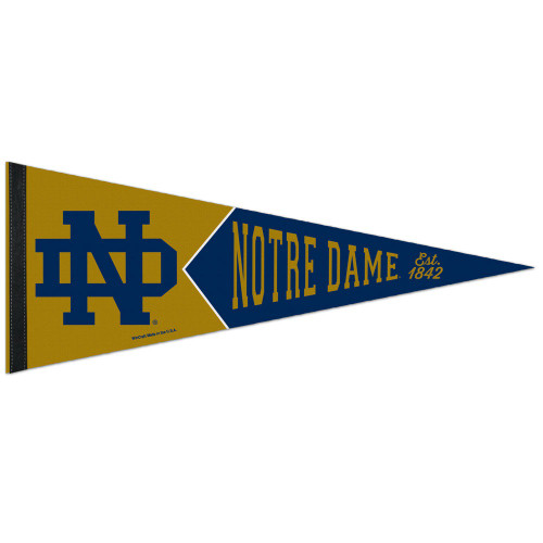 Notre Dame Fighting Irish Pennant 12x30 Premium Style College Vault Special Order