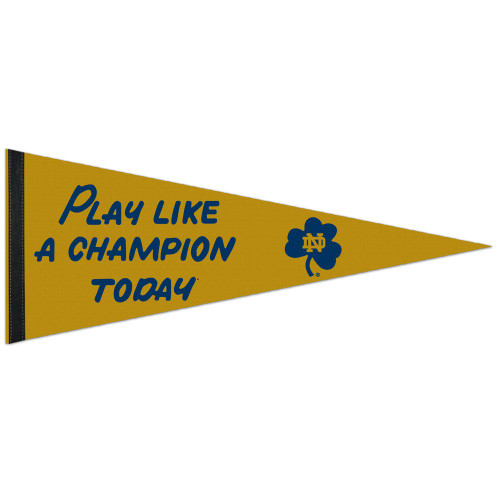 Notre Dame Fighting Irish Pennant 12x30 Premium Style PLACT Design Special Order