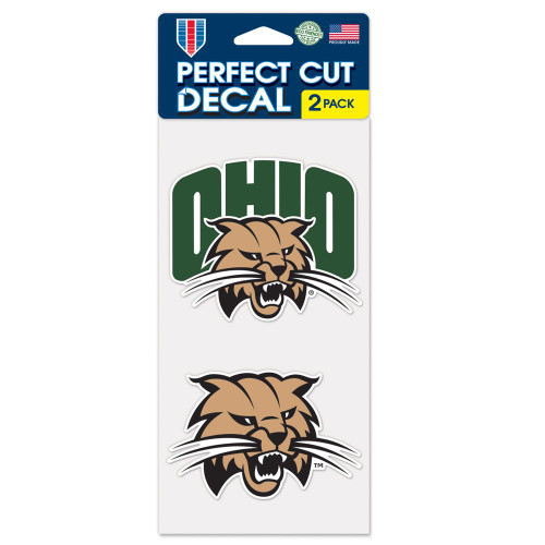 Ohio Bobcats Decal 4x4 Perfect Cut Set of 2 Special Order