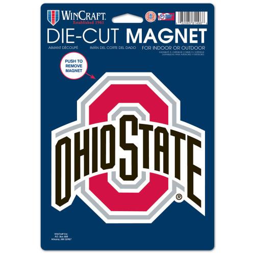 Ohio State Buckeyes Magnet 6.25x9 Die Cut Logo Design Special Order