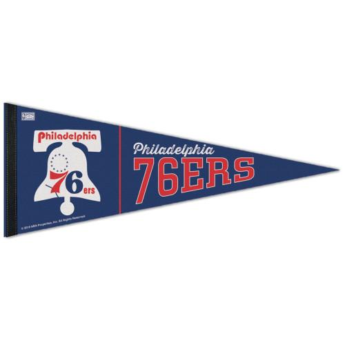Philadelphia 76ers Pennant 12x30 Premium Style Hardwood Classic Design Special Order