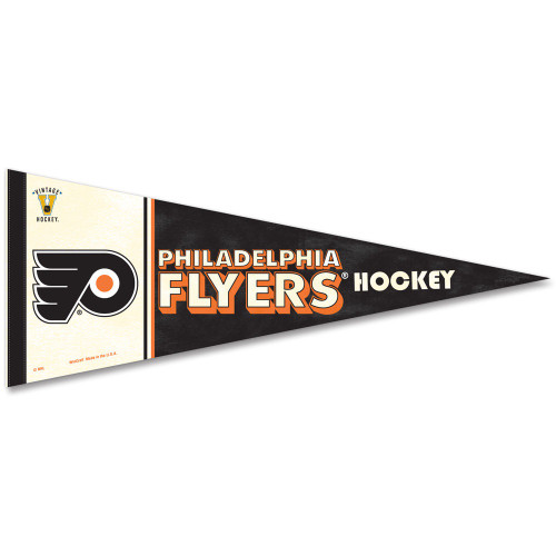Philadelphia Flyers Pennant 12x30 Premium Style Vintage Design Special Order