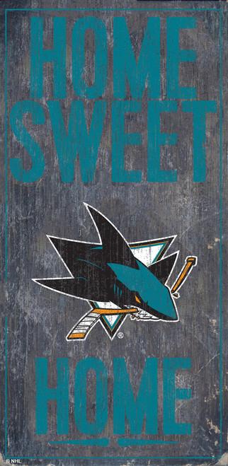 San Jose Sharks Sign Wood 6x12 Home Sweet Home Design Special Order