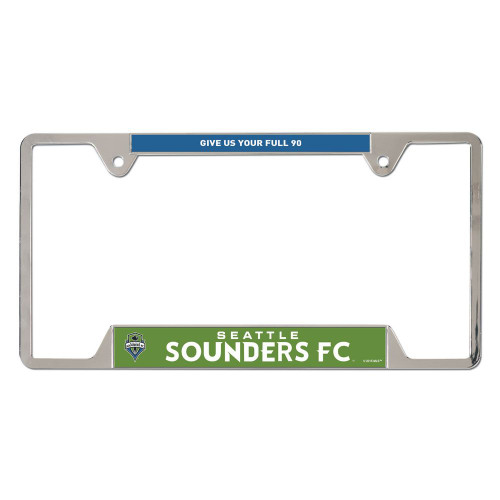 Seattle Sounders License Plate Frame Metal Special Order