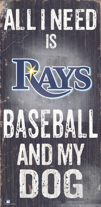 Tampa Bay Rays Sign Wood 6x12 Baseball and Dog Design Special Order