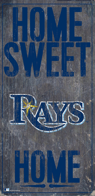 Tampa Bay Rays Sign Wood 6x12 Home Sweet Home Design Special Order