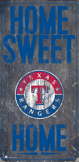 Texas Rangers Sign Wood 6x12 Home Sweet Home Design Special Order