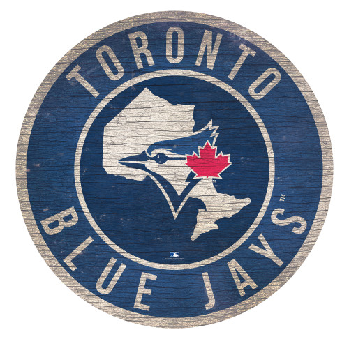 Toronto Blue Jays Sign Wood 12 Inch Round State Design Special Order