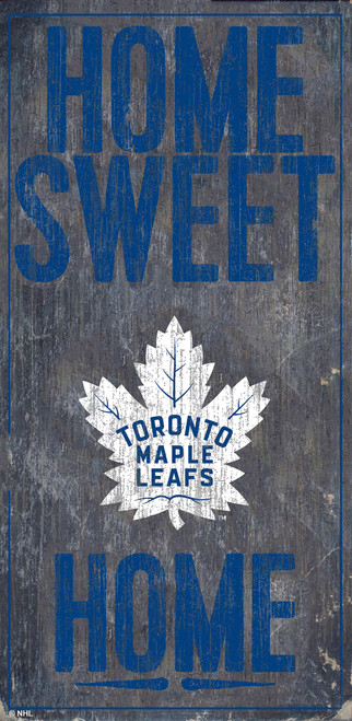 Toronto Maple Leafs Sign Wood 6x12 Home Sweet Home Design Special Order