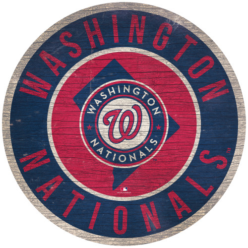 Washington Nationals Sign Wood 12 Inch Round State Design Special Order