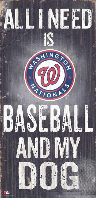 Washington Nationals Sign Wood 6x12 Baseball and Dog Design Special Order
