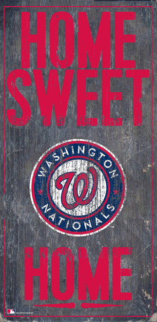 Washington Nationals Sign Wood 6x12 Home Sweet Home Design Special Order