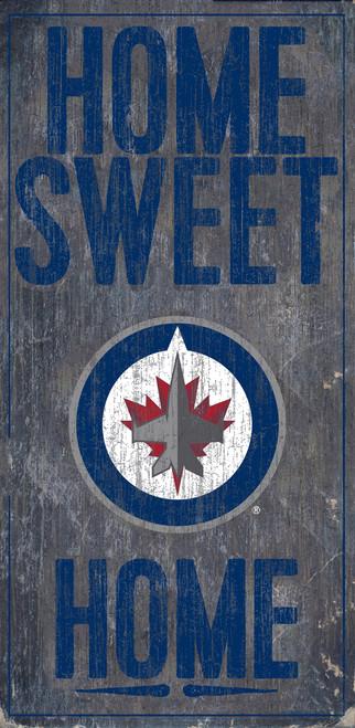 Winnipeg Jets Sign Wood 6x12 Home Sweet Home Design Special Order