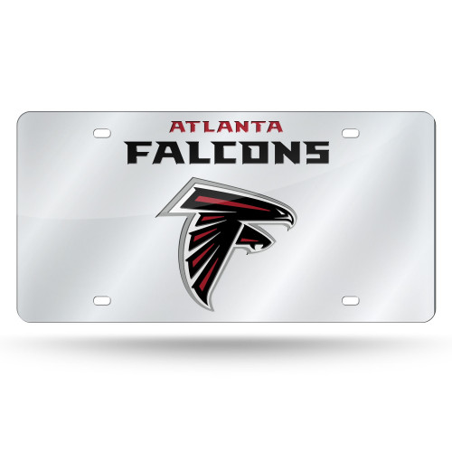 Atlanta Falcons License Plate Laser Cut Silver Wordmark