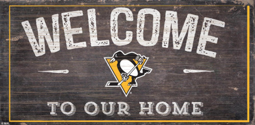 Pittsburgh Penguins Sign Wood 6x12 Welcome To Our Home Design - Special Order