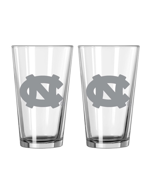 North Carolina Tar Heels Glass Pint Frost Design 2 Piece Set