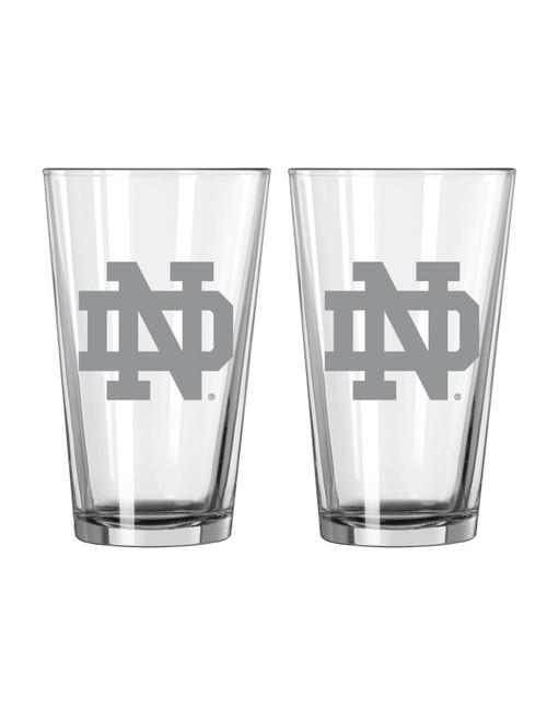 Notre Dame Fighting Irish Glass Pint Frost Design 2 Piece Set