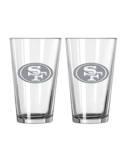 San Francisco 49ers Glass Pint Frost Design 2 Piece Set