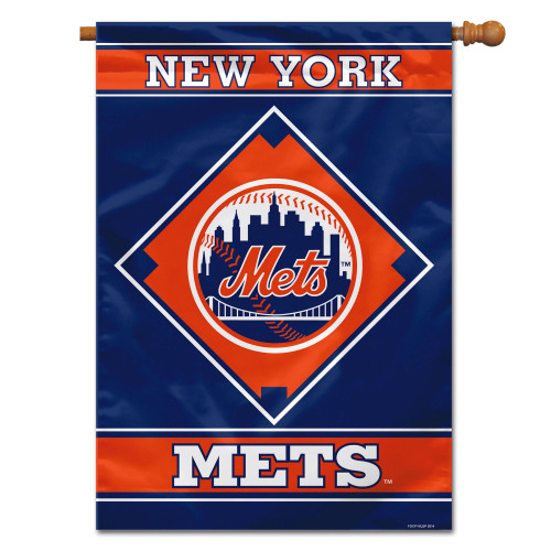 New York Mets Flag 28x40 House 1-Sided CO