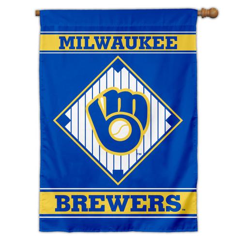 Milwaukee Brewers Flag 28x40 House 1-Sided CO