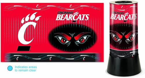 Cincinnati Bearcats Lamp Rotating Desk Style