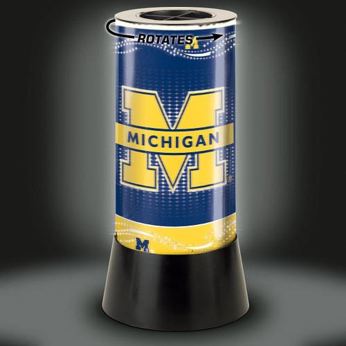 Michigan Wolverines Lamp Rotating Desk Style