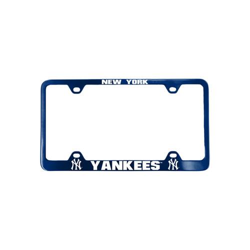 New York Yankees License Plate Frame Laser Cut Blue