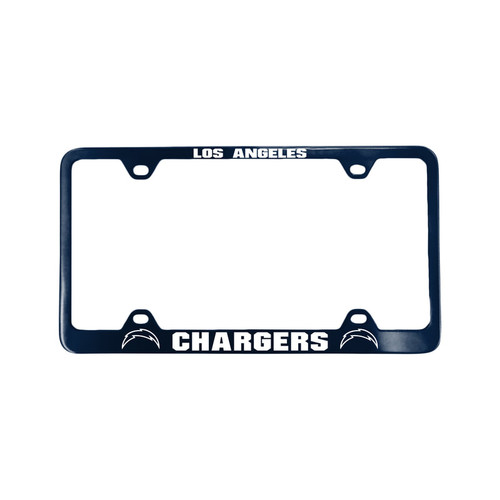 Los Angeles Chargers License Plate Frame Laser Cut Blue