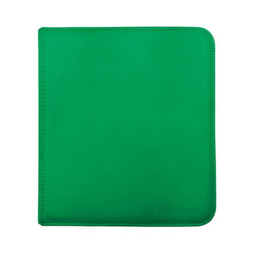 Ultra Pro 12 Pocket Pro Binder Zippered Green