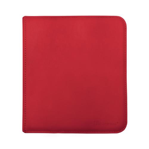 Ultra Pro 12 Pocket Pro Binder Zippered Red