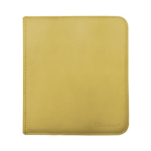 Ultra Pro 12 Pocket Pro Binder Zippered Yellow