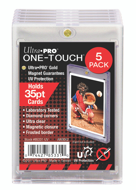 One Touch UV Card Holder Magnetic 35pt - 5 Count Pack