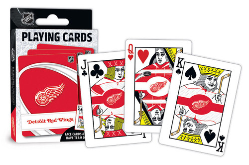Detroit Red Wings Playing Cards Logo