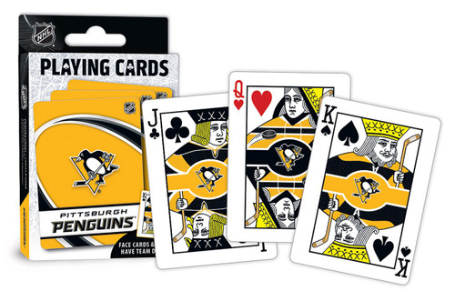Pittsburgh Penguins Playing Cards Logo