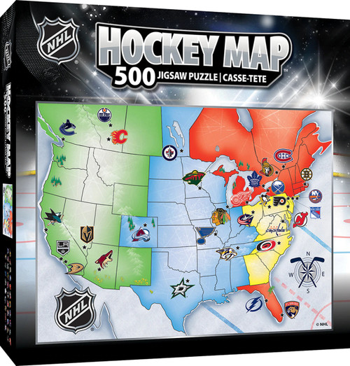 NHL Hockey Map Puzzle 500 Piece