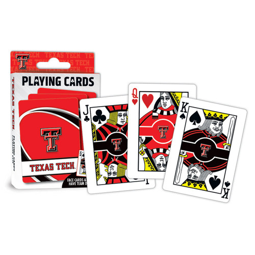 Texas Tech Red Raiders Playing Cards Logo