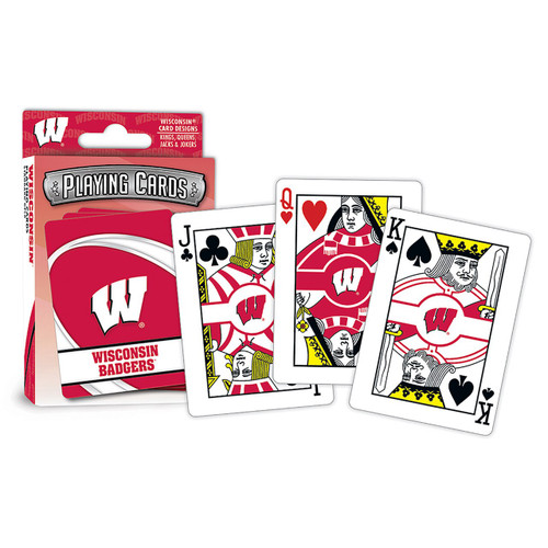 Wisconsin Badgers Playing Cards Logo